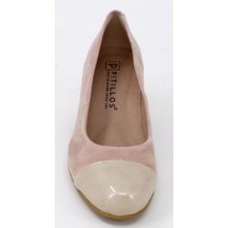 Zapato marca pitillos mujer en color nude